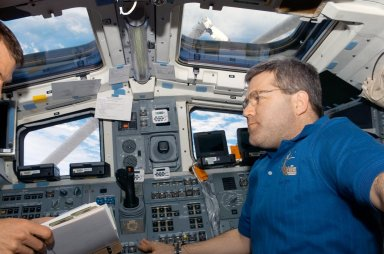 Frick on FD during STS-122