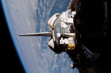 Columbus in the Atlantis payload bay during the STS-122 Mission