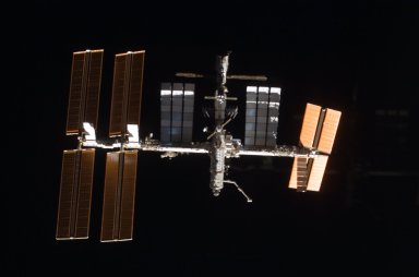 View of ISS taken during the STS-122 Approach