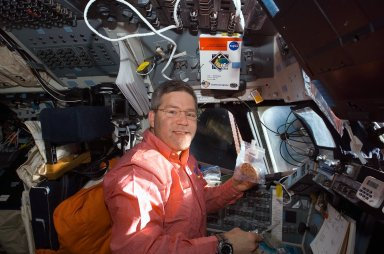 Frick on FD during Expedition 16/STS-122 Joint Operations
