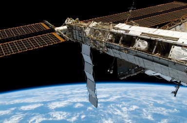 STBD Truss and Solar Array during Expedition 16/STS-122 Joint Operations