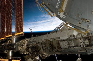 Port Truss during Expedition 16/STS-122 Joint Operations