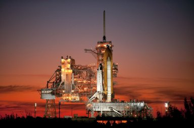 STS-129 Space Shuttle Atlantis on Pad 39A (200911150015HQ)