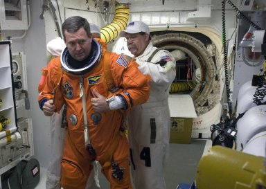 STS-129 Crew prepares to board the Space Shuttle Atlantis