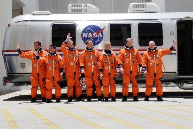 STS-124 crew walkout to van