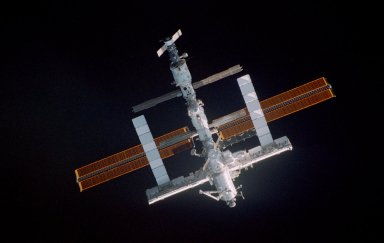 View of the ISS during approach for docking