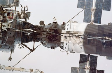 Flyaround view of the ISS
