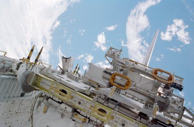 ESP-2 in Discovery payload bay during EVA 1