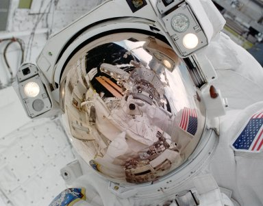 Robinson during EVA 1