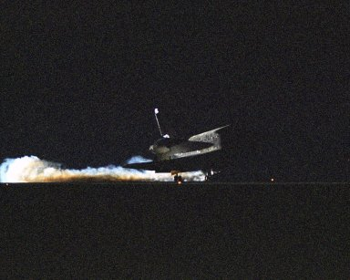 Landing of the STS-114 orbiter Discovery