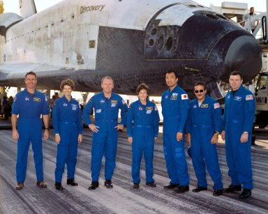 Crew of STS-114 after landing