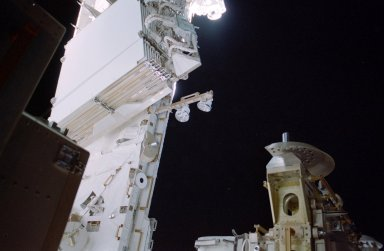 HRS on the aft-side of the S1 Truss taken during Expedition 13 / STS-115 Joint Operations