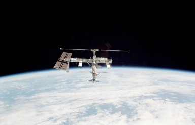 ISS during departure of the STS-115 Space Shuttle Atlantis
