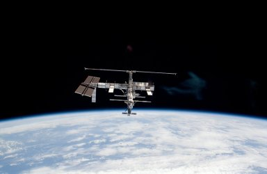 ISS during departure of STS-115 Space Shuttle Atlantis