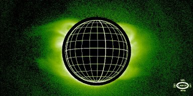"""he inner corona as seen by the LASCO C1 coronagraph in the light of the green forbidden coronal line of Fe XIV.Coronal structures can be seen as far as 1 million km above the solar surface.The large-scale solar magnetic field is being traced by loop systems,which are forming all around the Sun in different latitude zones, as demonstrated by the appearance of the corona above both the east and the west limbs. Three loop systems can be seen from high northern to high southern latitudes,bridging the solar equator. This magnetic configuration is known as a magnetic """"quadrupole,"""" because it has four magnetic zones, each zone bordering another of opposite polarity. Inherently,this configuration is not stable. This picture was taken on 1 February 1996, just 2 days before the coronal mass ejection shown in another figure on this page. Back [ http://sohowww.nascom.nasa.gov/gallery/SolarCorona/index.html ]"""