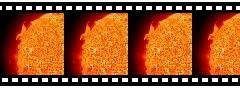 Streaming plasma slides above the surface of the Sun, in EIT 304 (March 18, 1997)