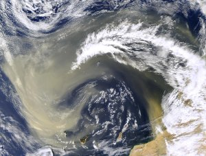 Dust Over the Canary Islands