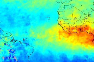 Pollution from Fires across Northwest Africa