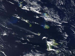 Ash Plume from Soufriere Hills Volcano