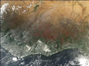 Fires in Western Africa