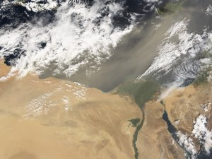 Dust Storm over Libya and Egypt
