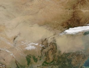 Spring Dust Storms Scour China