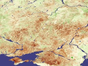 Stressed Crops in Ukraine and Russia