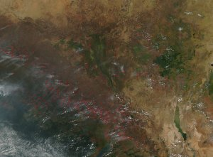 Fires in Sudan and Neighboring Countries