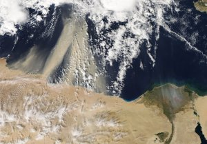 Dust and Smoke over the Mediterranean
