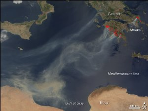 Smoke from Fires in Greece