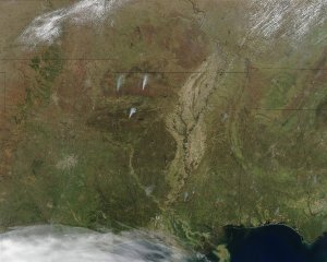 Fires in the Southern U.S.