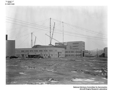 VIEW OF ALTITUDE WIND TUNNEL DURING CONSTRUCTION