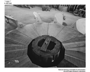ALTITUDE WIND TUNNEL PROPELLER LAMINATED WOOD CONSTRUCTION