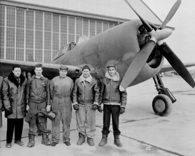 CREW AND AND HANGAR PERSONNEL BY AIRPLANE