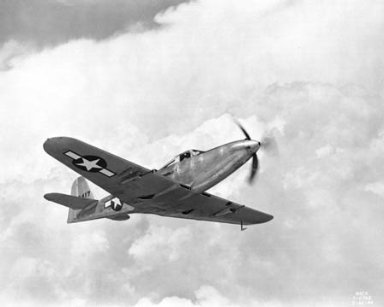 ARMY AIRPLANE IN FLIGHT P-63