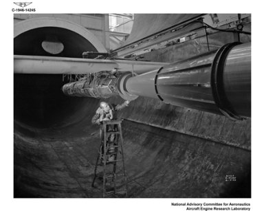 RAM JET INSTALLATION IN THE ALTITUDE WIND TUNNEL AWT