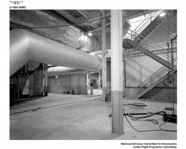BASEMENT OF PROPULSION SYSTEMS LABORATORY PSL EQUIPMENT BUILDING SHOWING AVAILABLE SPACE