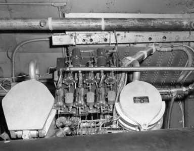 BOMARC ENGINE IN TANK 1 OF THE PROPULSION SYSTEMS LABORATORY PSL