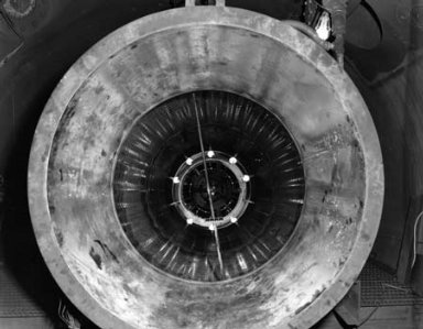 RAM JET ENGINE LINER IN TANK 2 OF THE PROPULSION SYSTEMS LABORATORY PSL