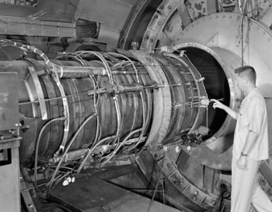 J-79 TAILPIPE ASSEMBLY IN THE PROPULSION SYSTEMS LABORATORY PSL