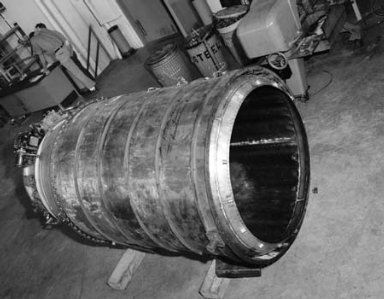 48 INCH RAM JET ENGINE BEFORE INSTALLATION IN NO. 2 TANK OF THE PROPULSION SYSTEMS LABORATORY PSL