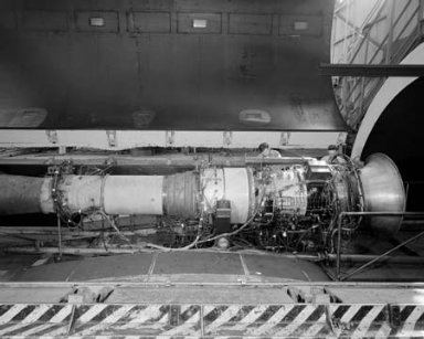 AVON RA-14 ENGINE IN THE ALTITUDE WIND TUNNEL AWT
