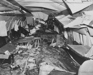 AVIATION CRASH INJURY RESEARCH OF CORNELL UNIVERSITY MARINE AIR TERMINAL LAGUARDIA AIRPORT FLUSHING NEW YORK USA TO BE USED AT SEATING CONFERENCE AT LEWIS FLIGHT PROPULSION LABORATORY LFPL ON APRIL 17 1956
