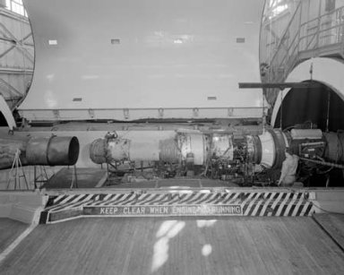AVON ENGINE IN THE ALTITUDE WIND TUNNEL AWT