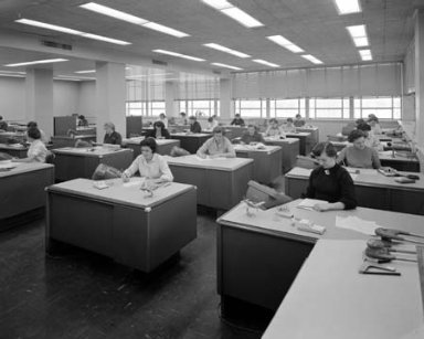 COMPUTERS IN ROOM 200 OF THE 8X6 FOOT WIND TUNNEL OFFICE BUILDING