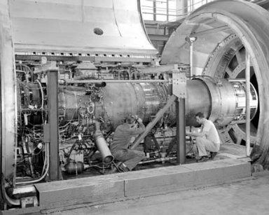 PS-13 ENGINE INSTALLATION IN THE PROPULSION SYSTEMS LABORATORY PSL TANK NO. 1