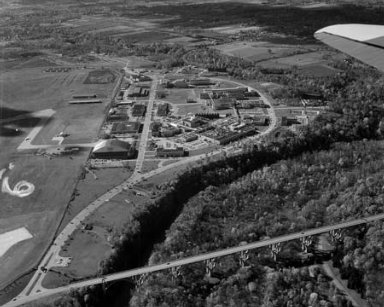 AERIAL VIEW OF NASA LEWIS RESEARCH CENTER CLEVELAND OHIO