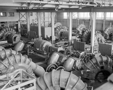 NO. 43 ROOTS EXHAUSTER IN THE PROPULSION SYSTEMS LABORATORY PSL EQUIPMENT BUILDING DURING REPAIR OPERATIONS