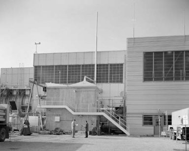 NORTH SIDE VIEW OF PROPULSION SYSTEMS LABORATORY PSL LH2 LO2 PROPELLANT BUILDING