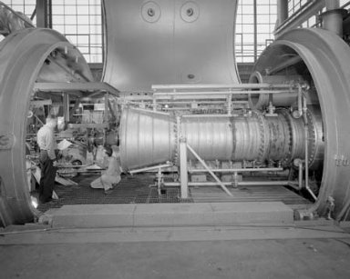 STORABLE PROPELLANT THRUST STAND INSTALLATION AND STORABLE PROPELLANT SYSTEM CONTROL PANEL IN THE PROPULSION SYSTEMS LABORATORY PSL TANK 1
